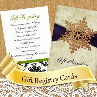 Gift Registry Cards