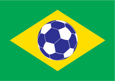 Brazilian Football Flag