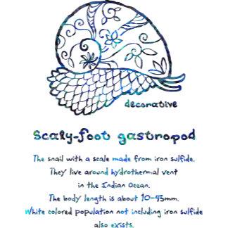 【装飾的なスケーリーフット(青螺鈿】Decorative Scaly-foot(Blue Raden