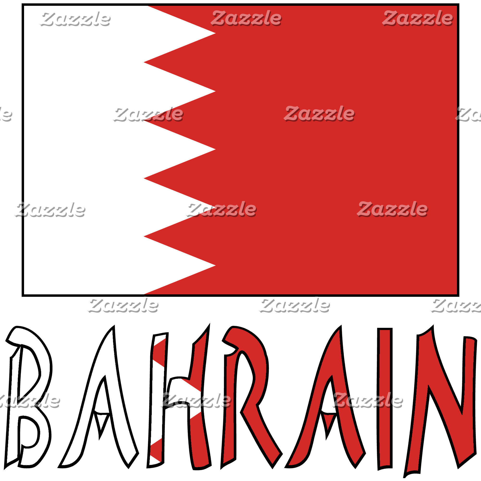 Bahraini Flag and Bahrain