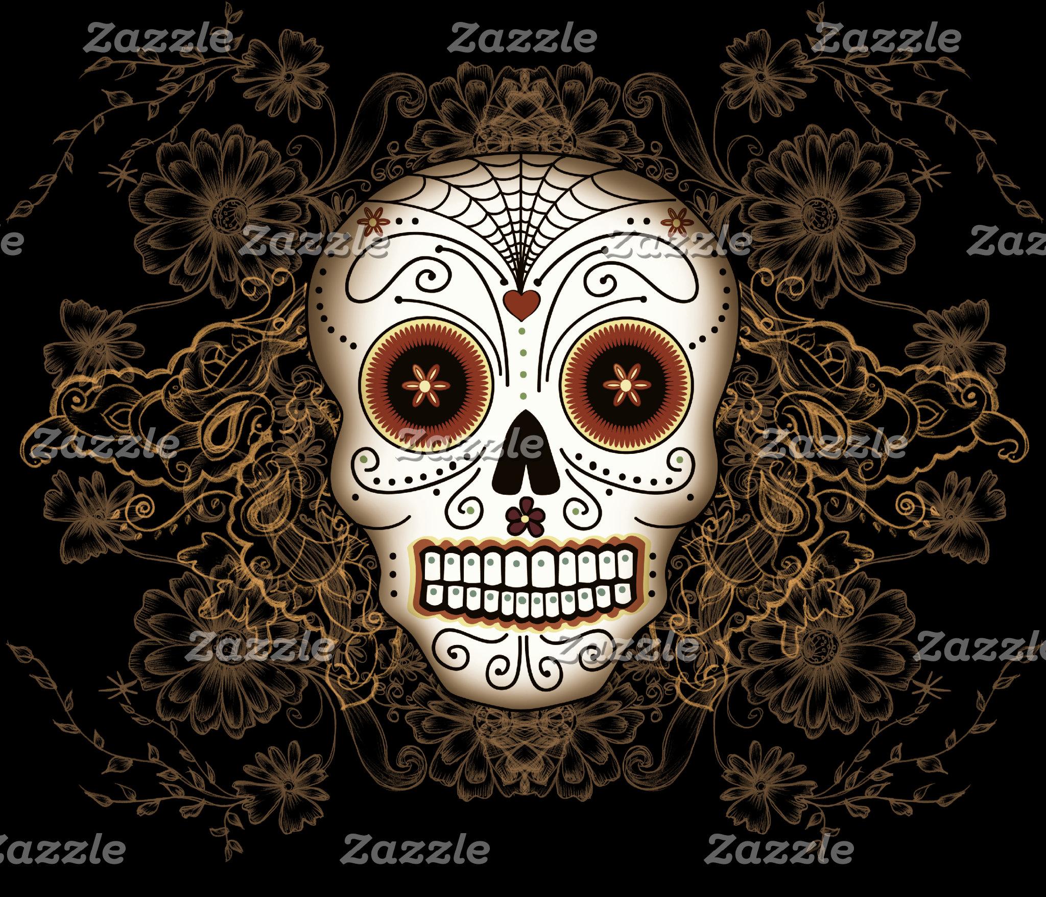 Vintage Sugar Skull