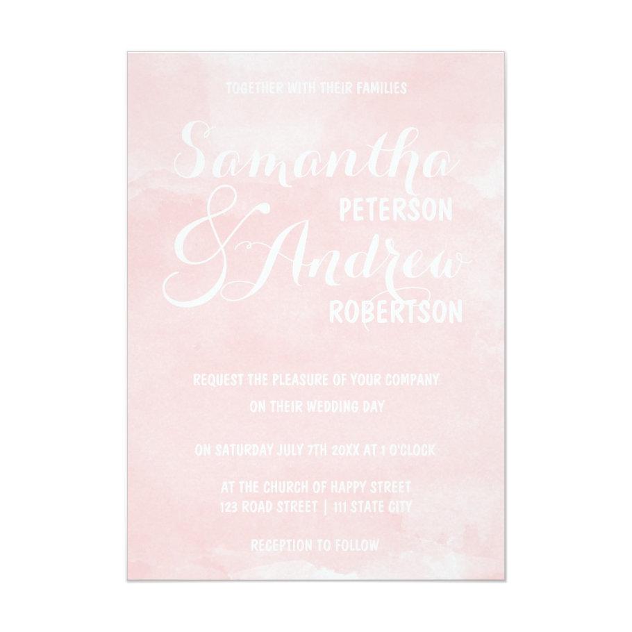 Modern blush pink watercolor wedding