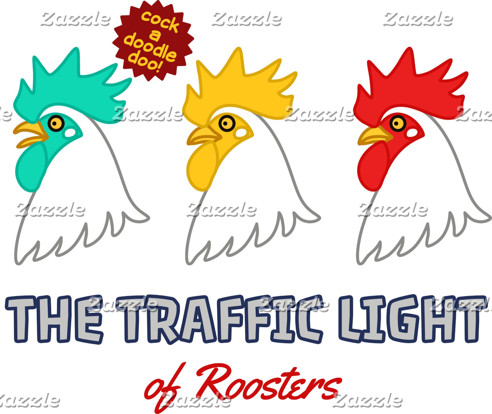 【にわとり信号】 The traffic light of roosters