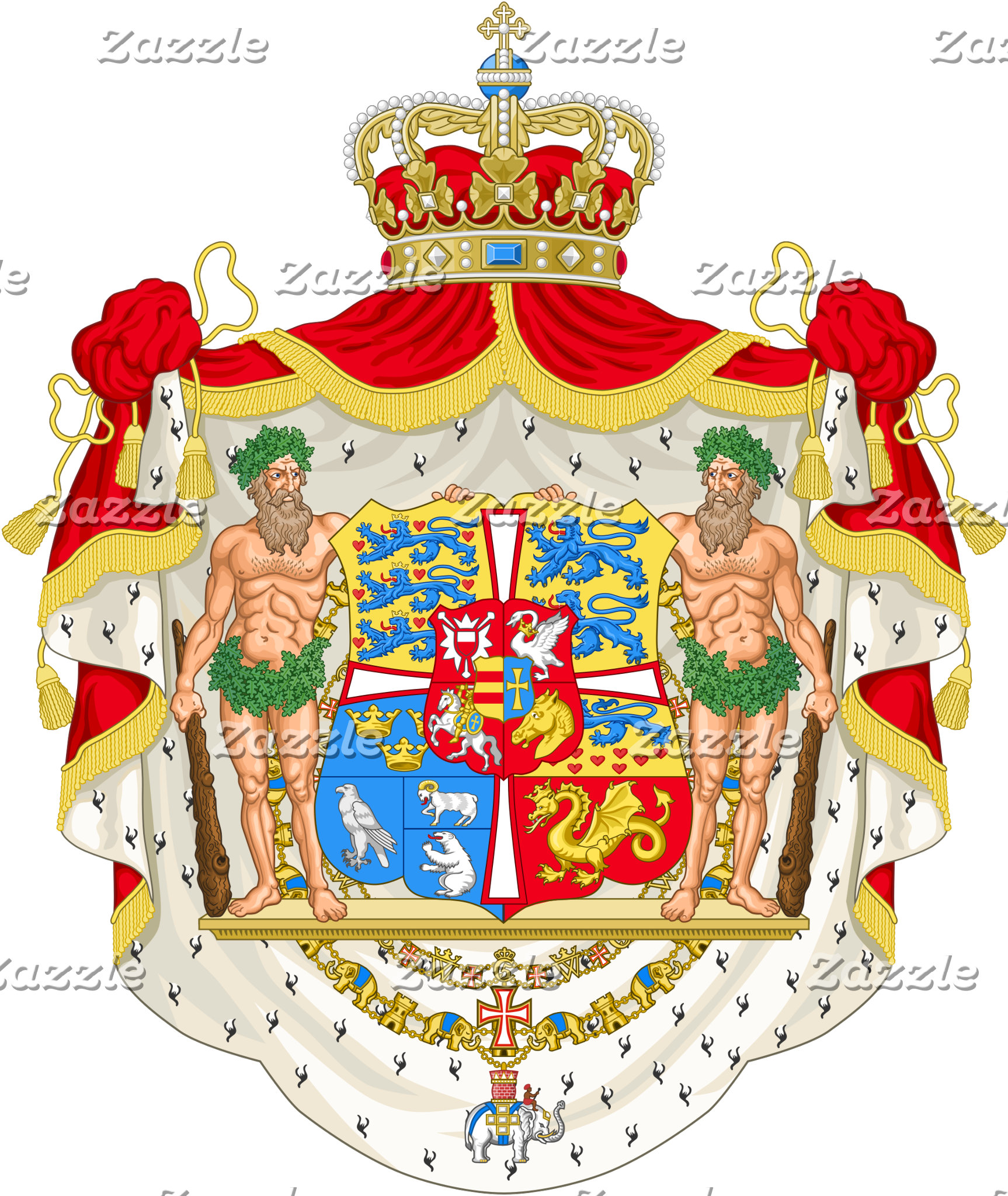 Royal Coat of Arms, Denmark