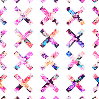 Elegant Vintage Chic Floral Bright Crosses Pattern