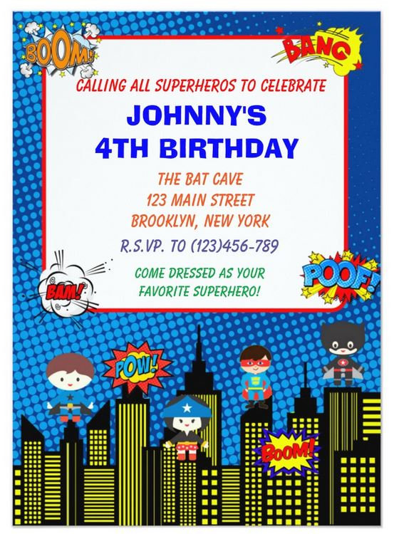 Children's Birthday Invitations