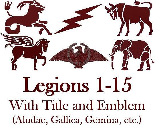 Legions 1-15 Titles and Emblems