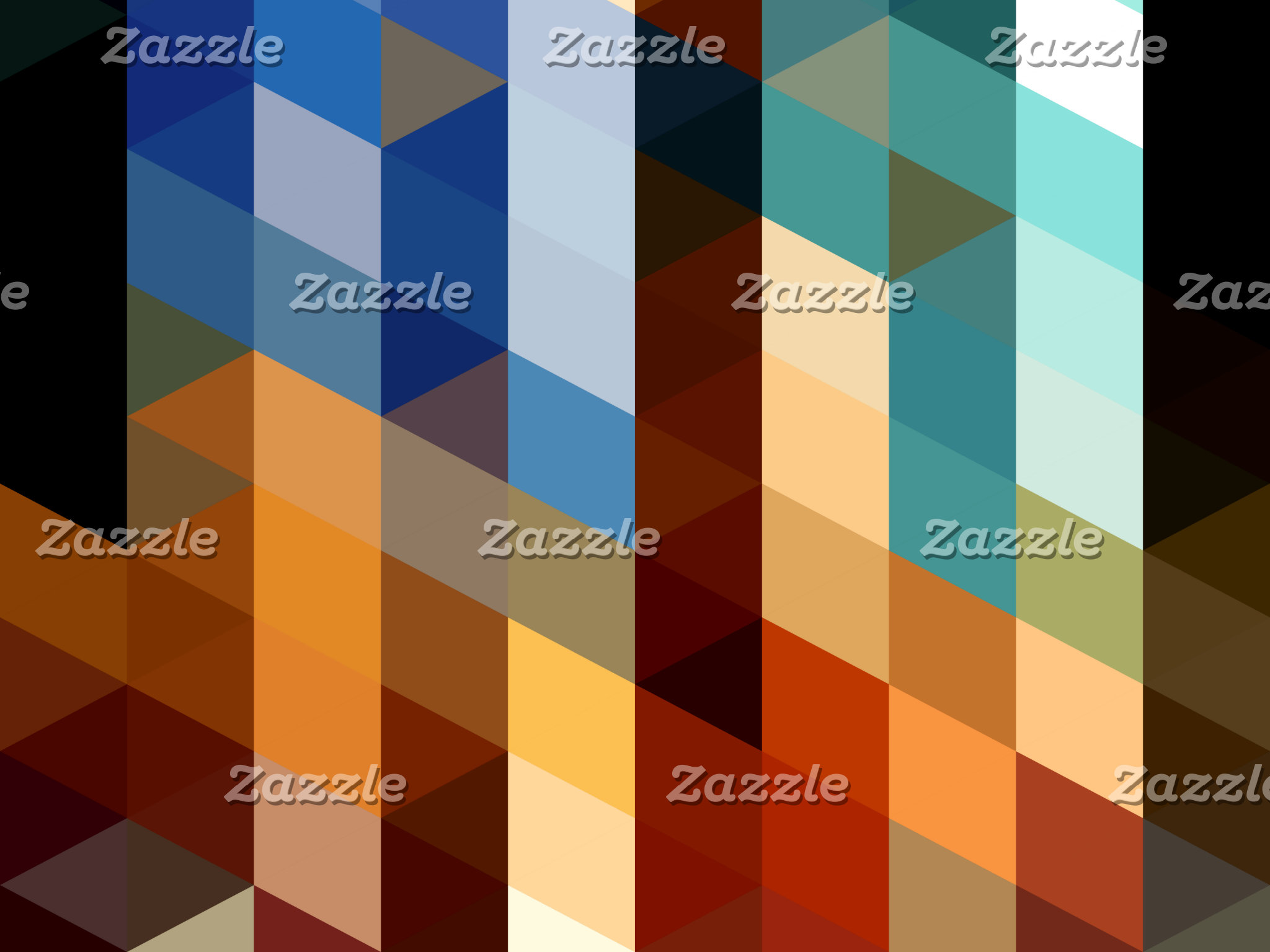 Geometric Patterns | Blue and Orange Triangles