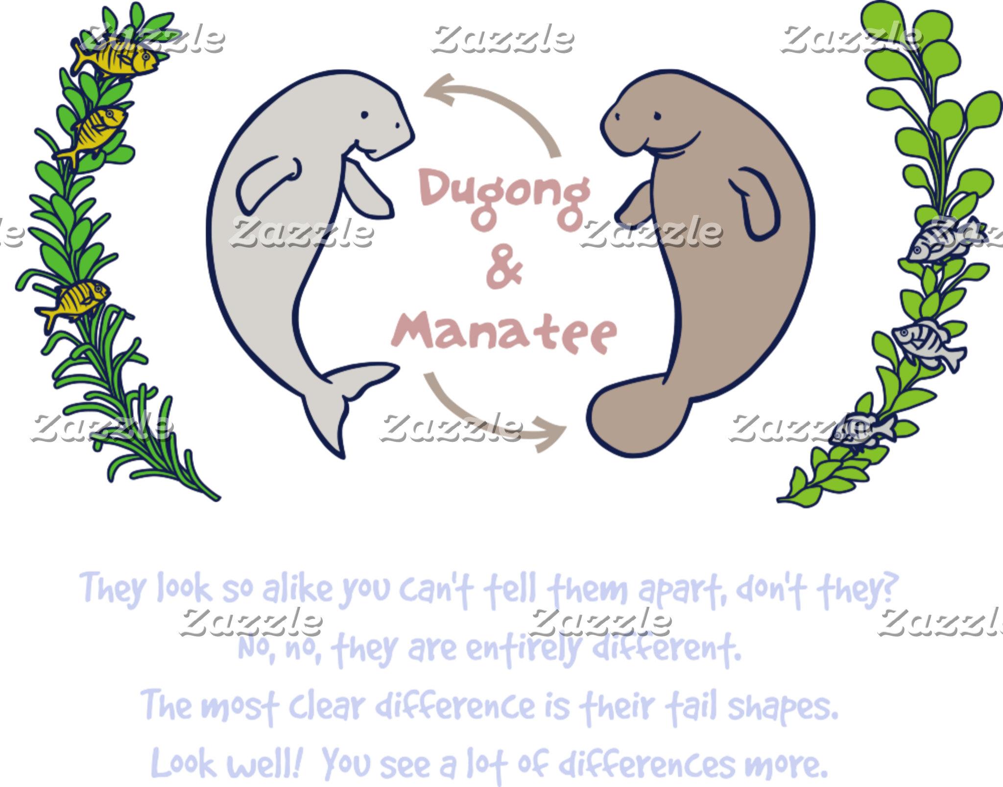【ジュゴンとマナティー(カラー濃色地用)】 Dugong & Manatee (for dark