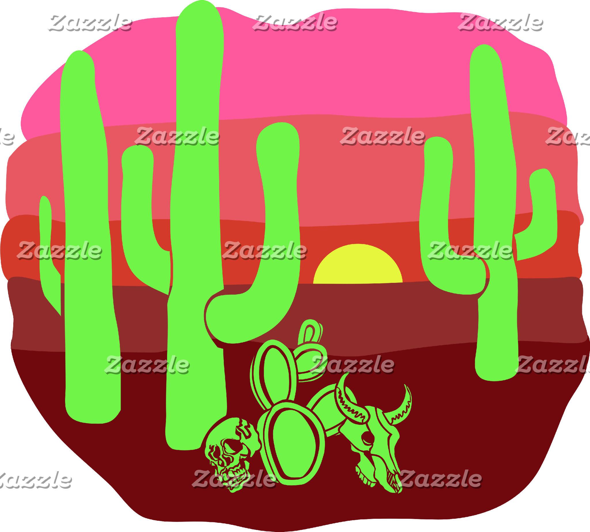 Desert Skulls and Cacti