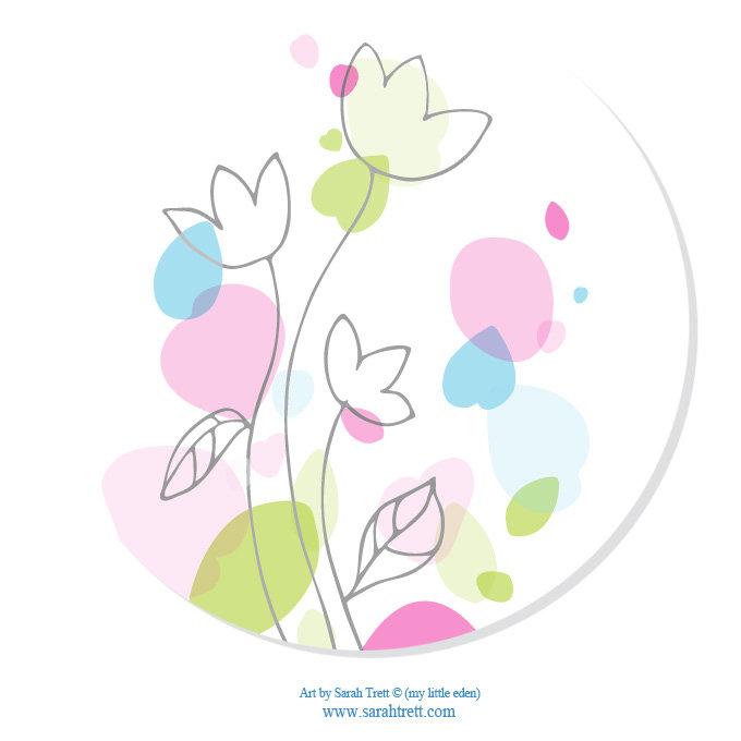 Confetti Graphic Flowers