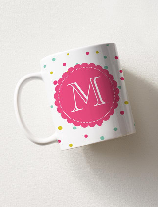 モノグラムマグカップデザイン
