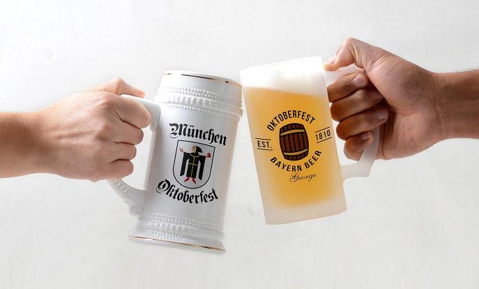 オリジナルビールジョッキデザイン