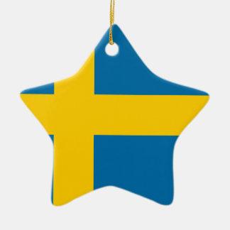 Sveriges Flagga -スウェーデンの旗-スウェーデンの旗 セラミックオーナメント