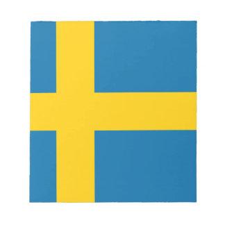 Sveriges Flagga -スウェーデンの旗-スウェーデンの旗 ノートパッド