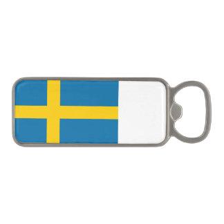 Sveriges Flagga -スウェーデンの旗-スウェーデンの旗 マグネット栓抜き