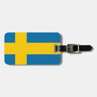 Sveriges Flagga -スウェーデンの旗-スウェーデンの旗 ラゲッジタグ