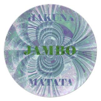 Swaga Jambo Hakuna MatataケニヤのキリンのサファリWo 皿
