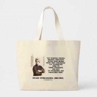 SwamiのVivekanandaの前向きで強く有用な思考 ラージトートバッグ