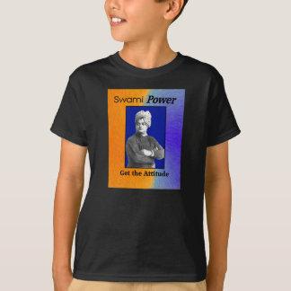Swami力: 態度を得て下さい! 子供のTシャツ Tシャツ