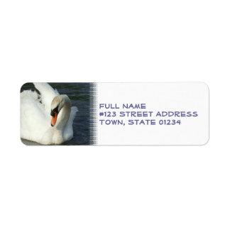 swan湖の差出人住所ラベル ラベル