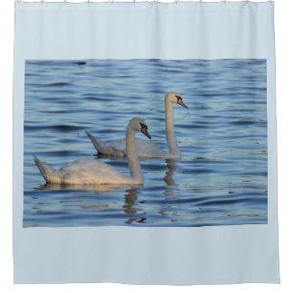 Swans Photo シャワーカーテン