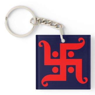 swastika 正方形(両面)アクリル製キーホルダー