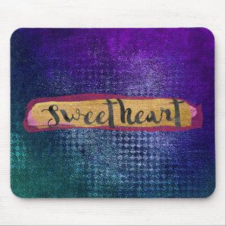 Sweatheartの魅力的で青く汚い緑のモダン マウスパッド