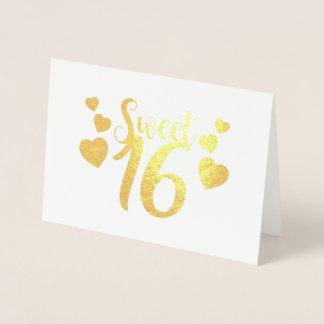 sweet sixteenかわいい金ホイルカード 箔カード