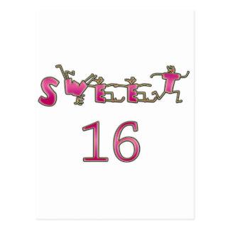 Sweet sixteenのピンク ポストカード