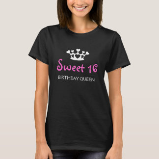 Sweet sixteenの誕生日の女王-明るい赤紫色 tシャツ