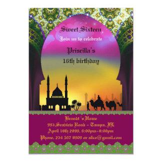 Sweet sixteenの誕生日の招待、第16、アラビア人、 カード