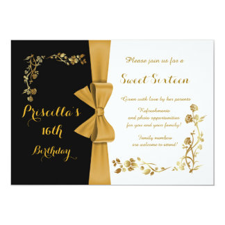 Sweet sixteenの誕生日の招待、第16、Gatsby カード