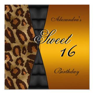 Sweet sixteen第16の野生の黒いイエロー・ゴールド カード