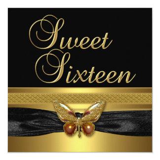 Sweet sixteen 16誕生会の蝶金ゴールド カード