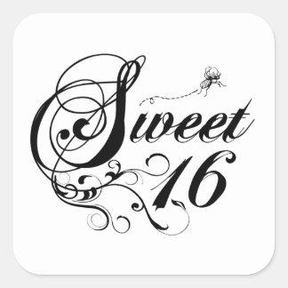 Sweet sixteen (16)の引用文 スクエアシール