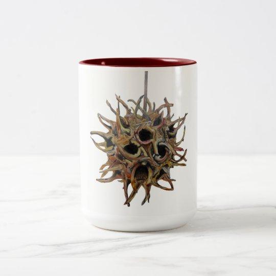 Sweetgumのポッドのあずき色15のozのツートーンマグ(4)の1 ツートーンマグカップ