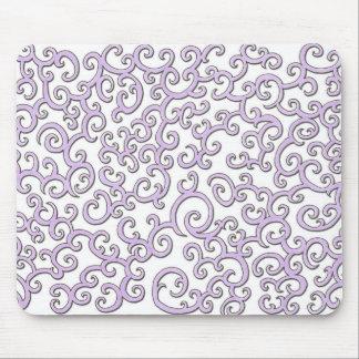 Swirleyの紫色の落書き マウスパッド