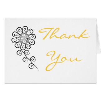 SwirlFlower、ありがとう カード