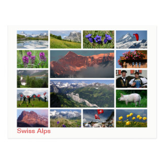 Swiss Alps multi-image ポストカード