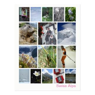 Swiss Alps multi-image 3 ポストカード