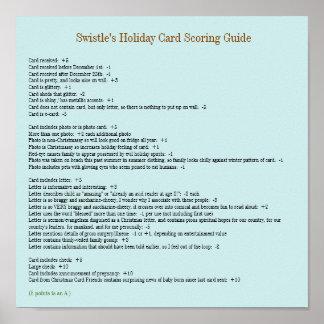 Swistleの休日カード記録ガイドポスター11x11 ポスター