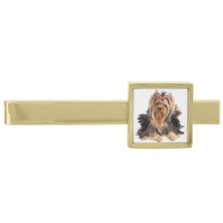 switeの美しい犬 金色 ネクタイピン