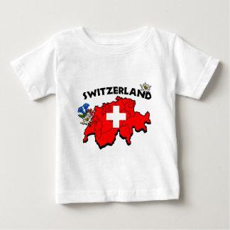 Switzの地図のベビーのティー ベビーTシャツ