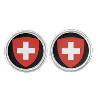 Switzerland*の頂上の人のカフスボタン カフスボタン