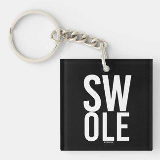 SWOLE --   人のフィットネス- .png キーホルダー
