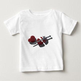 SwordBrokenGlassHeart012915 ベビーTシャツ