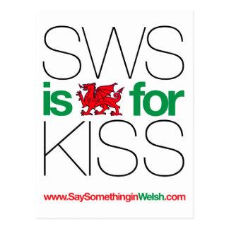 SWSはキスのためのウェールズです! ポストカード