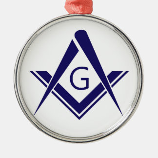 syコンパスのフリーメーソン会員ギルドの石大工の団体や組織の印 メタルオーナメント