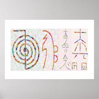 SYMBOL ART 2014 - Reiki Master Practice ポスター